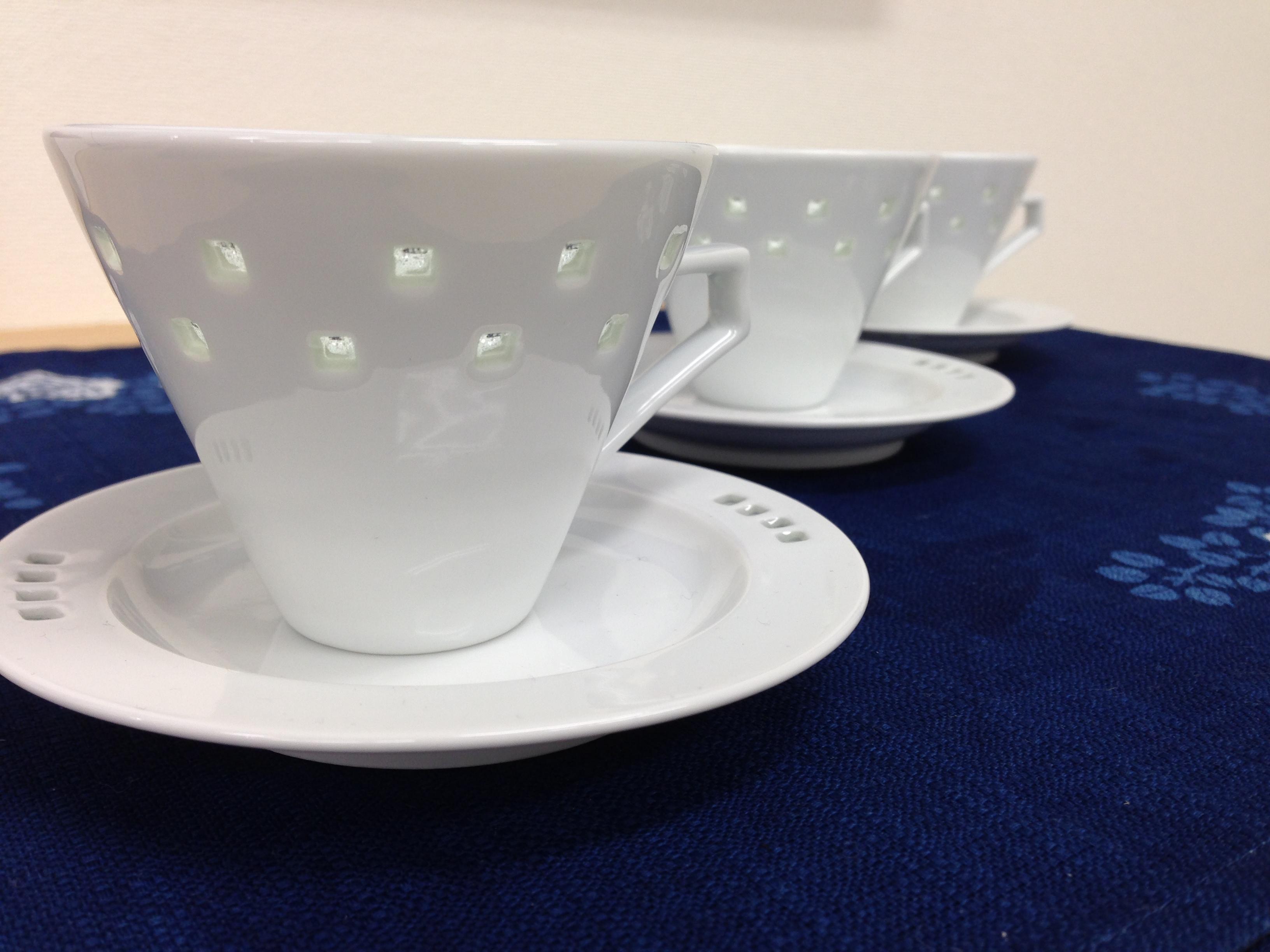 水晶スクエアデミタスカップ