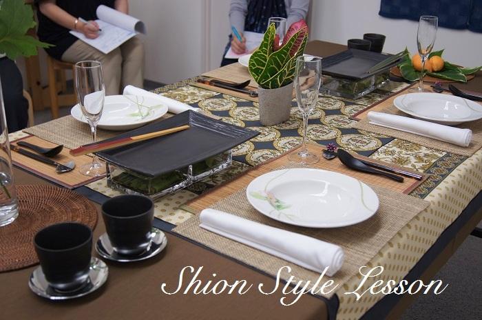 季節を楽しむテーブルコーディネート講座夏編