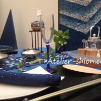 藍で楽しむ夏の食卓