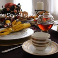 オータムカラーテーブル&お洒落な秋のティーカクテルレッスン