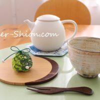 新茶の季節を楽しむうつわ
