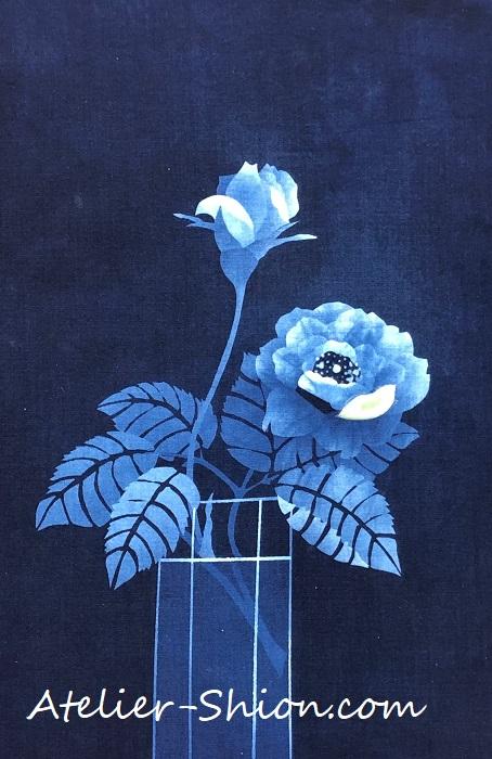 大田耕治藍染展示「Winter Rose」