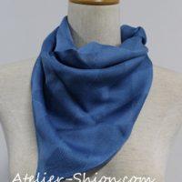藍染シルクプチスカーフ ダイヤモチーフ