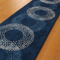 藍染テーブルランナー「点丸紋」