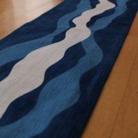 藍染テーブルランナー「流水」