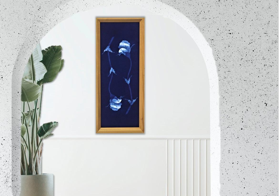藍染オリジナル額 幻想華「2対のばら」