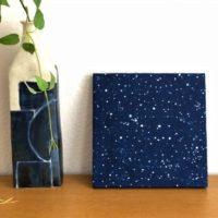 藍染ファブリックパネル「スターダスト」
