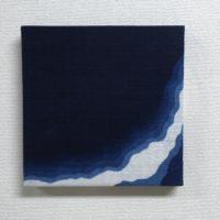 藍染ファブリックパネル「刻む1」