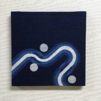藍染ファブリックパネル「絆2」