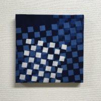 藍染ファブリックパネル「こもれび」