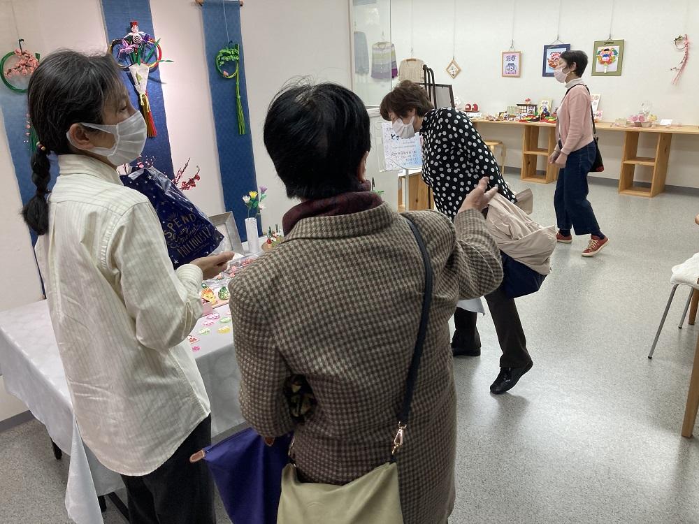 太田順子水引教室 春の文化祭「ときめき」会場の様子